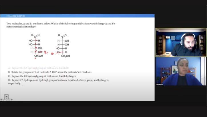 Online MCAT Course Analytics Screenshots